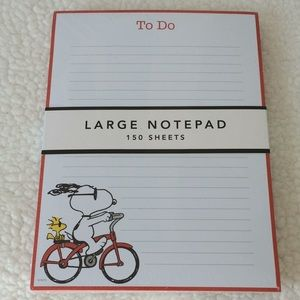 Peanuts Snoopy Large Notepad